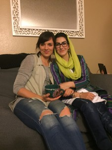 Fatemeh & me sipping our tea.